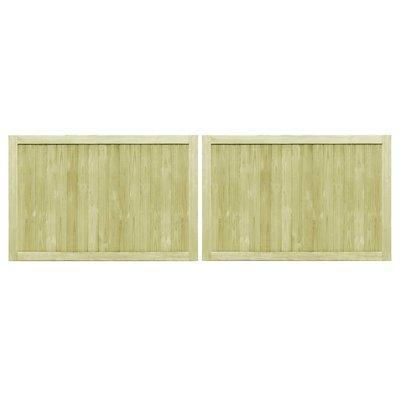 Poorten 2 st 300x100 cm FSC geïmpregneerd grenenhout
