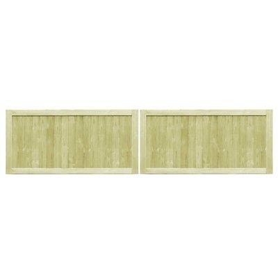 Poorten 2 st 300x75 cm FSC geïmpregneerd grenenhout