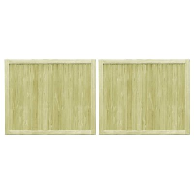 Poorten 2 st 300x125 cm FSC geïmpregneerd grenenhout