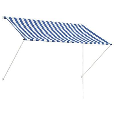 Zonwering uitschuifbaar 200x150 cm blauw en wit
