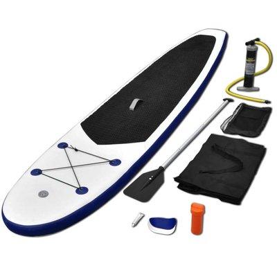 Stand-up paddleboard opblaasbaar blauw en wit