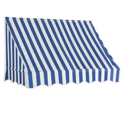 Luifel 150x120 cm blauw en wit