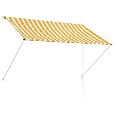 Zonwering uitschuifbaar 200x150 cm geel en wit