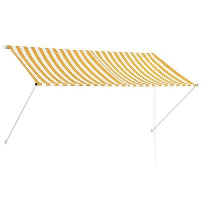 Zonwering uitschuifbaar 250x150 cm geel en wit
