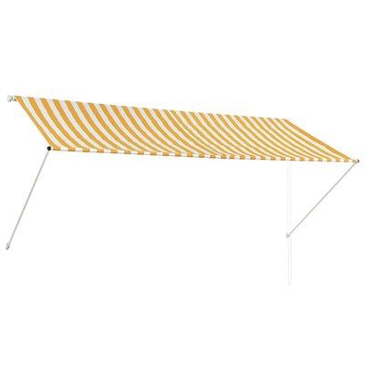 Zonwering uitschuifbaar 300x150 cm geel en wit