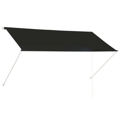 Zonwering uitschuifbaar 250x150 cm antraciet