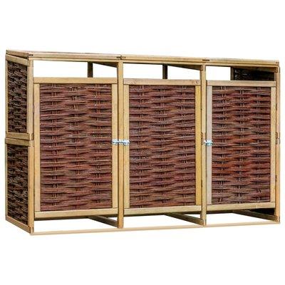 Containerberging driedubbel grenenhout en riet