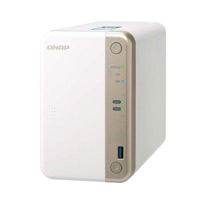 QNAP TS-251B Ethernet LAN Toren Wit NAS