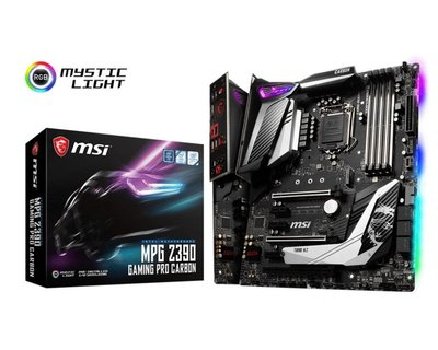 MSI MPG Z390 GAMING PRO CARBON moederbord LGA 1151 (Socket H4) ATX Intel Z390