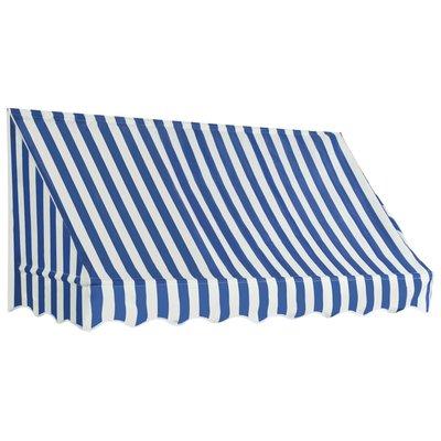 Luifel 200x120 cm blauw en wit