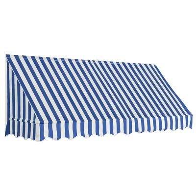 Luifel 250x120 cm blauw en wit