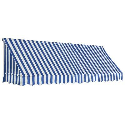 Luifel 300x120 cm blauw en wit