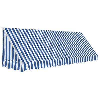 Luifel 350x120 cm blauw en wit