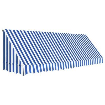 Luifel 400x120 cm blauw en wit