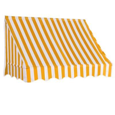 Luifel 150x120 cm oranje en wit