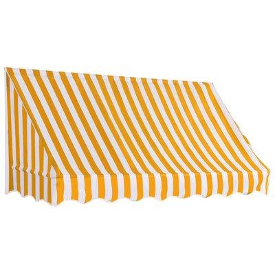 Luifel 200x120 cm oranje en wit