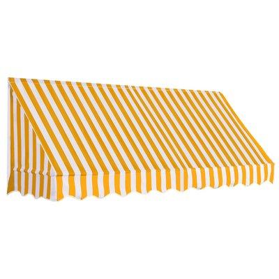 Luifel 250x120 cm oranje en wit