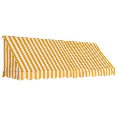 Luifel 300x120 cm oranje en wit