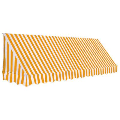 Luifel 350x120 cm oranje en wit