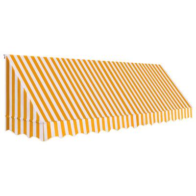 Luifel 400x120 cm oranje en wit