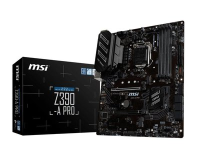 MB MSI Z390-A PRO / 1151 8th comp / m.2  / 4x DDR4 / ATX