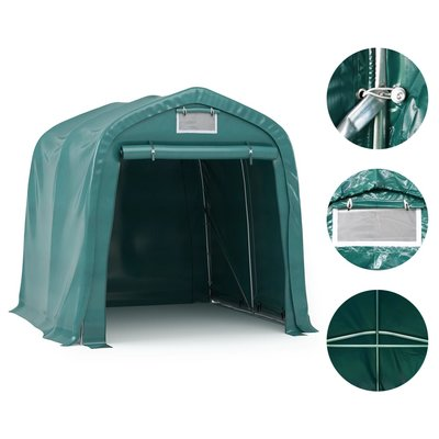 Garagetent 1,6x2,4 m PVC groen
