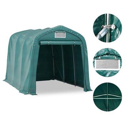 Garagetent 2,4x3,6 m PVC groen