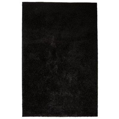 Vloerkleed shaggy hoogpolig 80x150 cm zwart