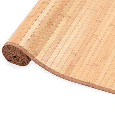 Tapijt 80x200 cm bamboe bruin