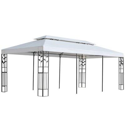 Tuinpaviljoen 180g/m² 3x6 m wit