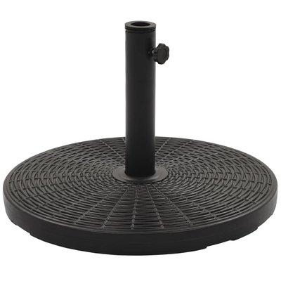 Parasolvoet rond 25 kg zwart