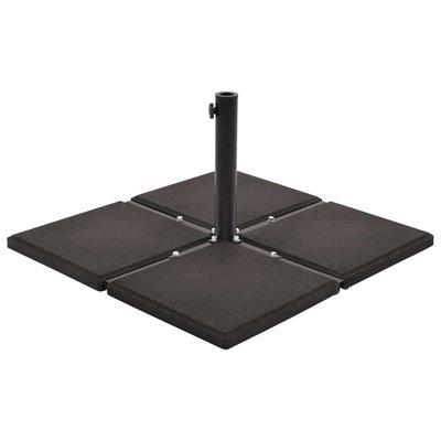 Parasolvoetplaat vierkant 12 kg beton zwart