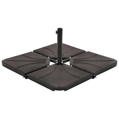 Parasolvoetplaat vierkant 18 kg beton zwart