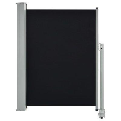 Zijluifel uittrekbaar 100x300 cm zwart