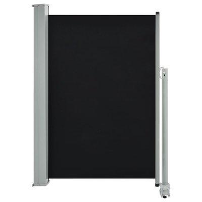 Zijluifel uittrekbaar 120x300 cm zwart