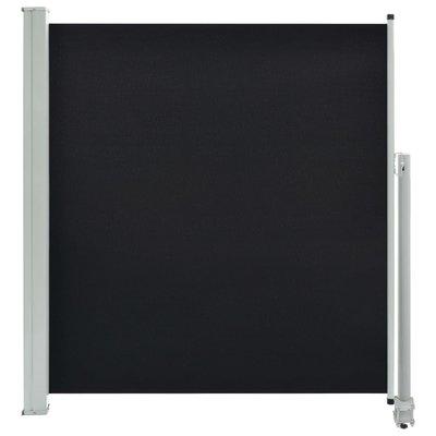 Zijluifel uittrekbaar 140x300 cm zwart