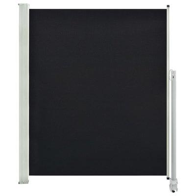 Zijluifel uittrekbaar 160x300 cm zwart