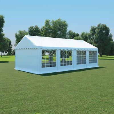 Tuinpaviljoen 4x8 m PVC wit
