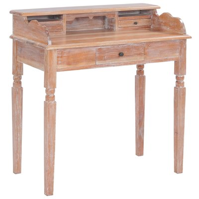Schrijftafel 90x50x98 cm massief mahoniehout