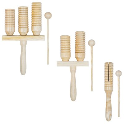 3-delige Agogo-bellenset hout