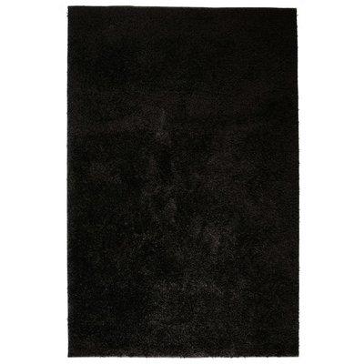 Vloerkleed shaggy hoogpolig 160x230 cm zwart