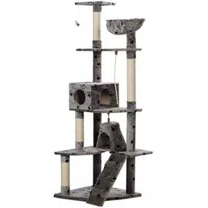 Kattenkrabpaal Jaapie 191 cm (grijs) met pootafdrukken