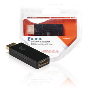 Konig DisplayPort Adapter DisplayPort Male - HDMI Male Antraciet