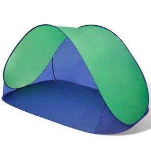 Strandtent opvouwbaar waterafstotend met UV bescherming (groen)