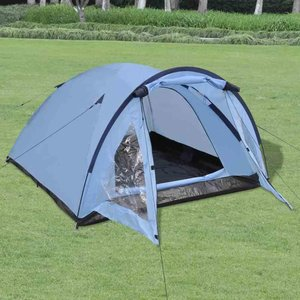 Tent 3-persoons blauw
