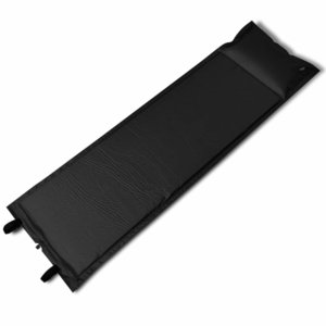 Slaapmat zelfopblazend zwart 185 x 55 x 3 cm (enkel)