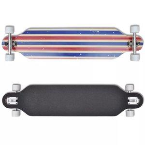 "Skateboard longboard star Esdoorn Aluminium 107 cm blauw 9"""