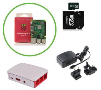 Officiële Raspberry Pi 3 B+ (2018) Starter Kit met Originele Accessoires