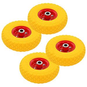 Steekwagenwielen 3,00-4 (260x85) rubber 4 st