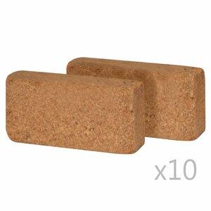 Kokosvezelblokken 650 g 20x10x4 cm 20 st
